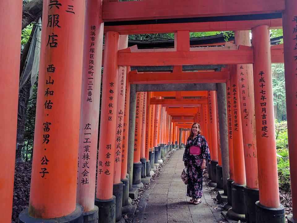 Allée de torii à Fushimi inari.