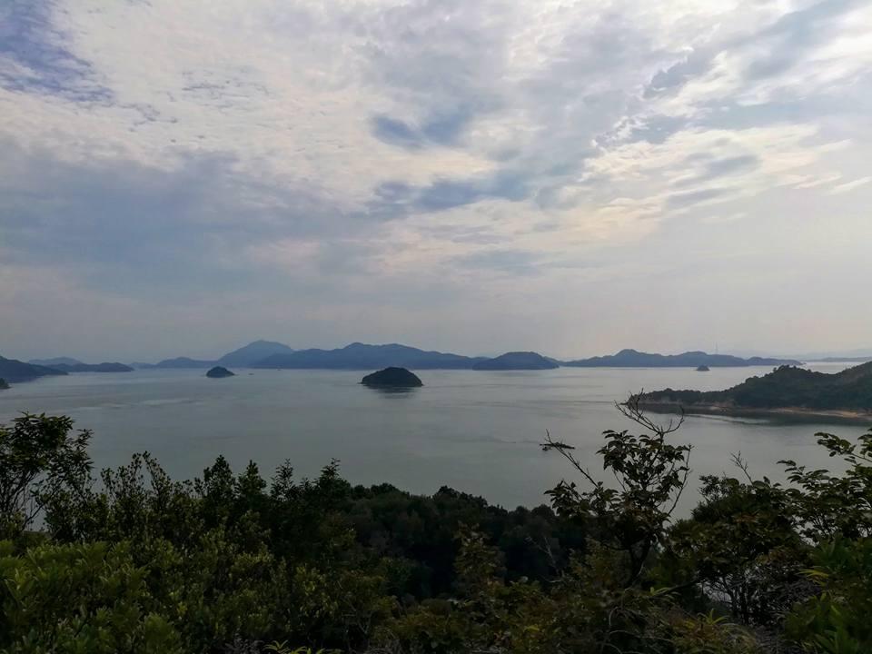 Vue depuis les hauteurs de l'île.
